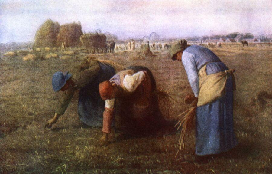 Maleri som viser bøndenes daglige slit